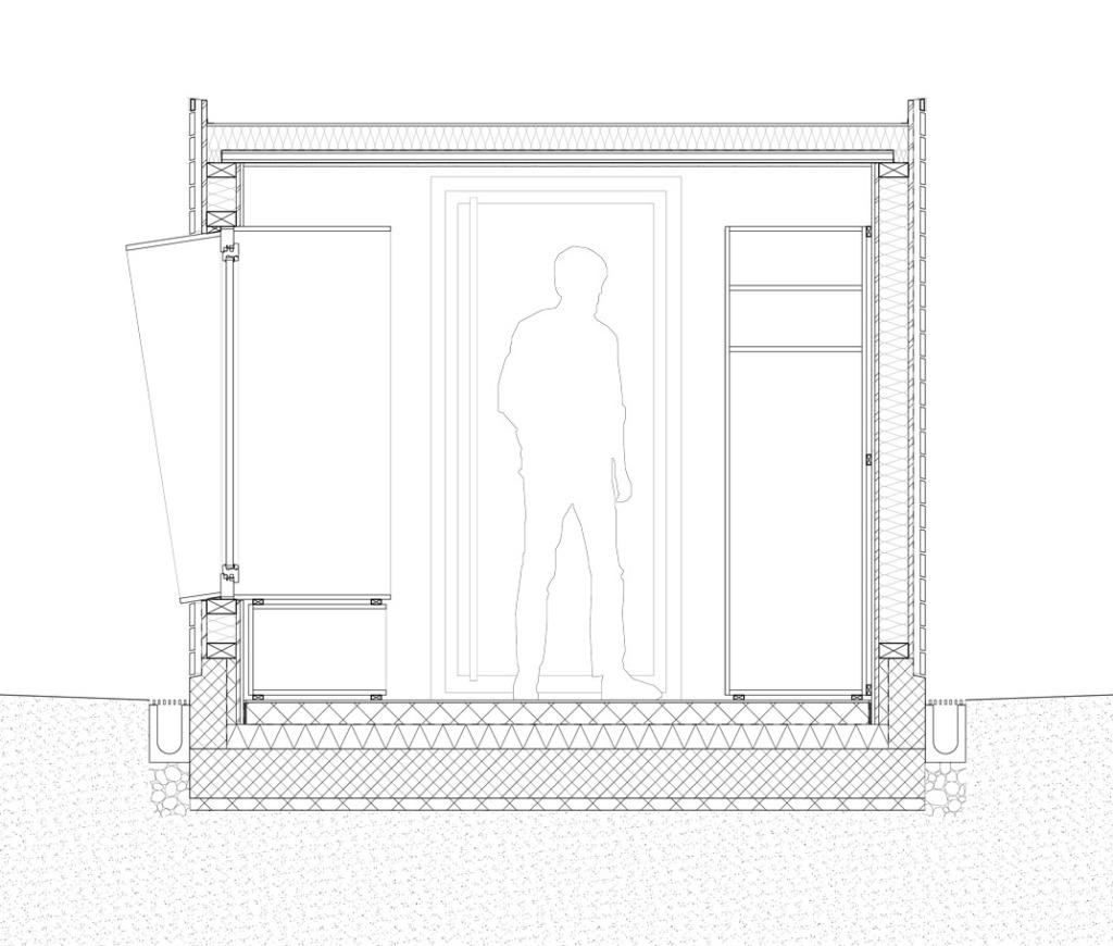 Windfang Schnitt C Architektur Bauen